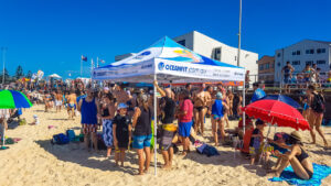 OceanFit'ers supporting each other at the North Bondi Classic.